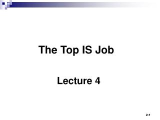 The Top IS Job