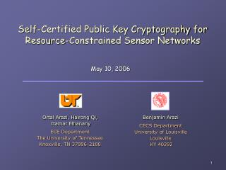 Self-Certified Public Key Cryptography for Resource-Constrained Sensor Networks