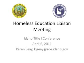Homeless Education Liaison Meeting