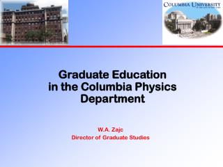 Graduate Education in the Columbia Physics Department