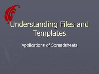 Understanding Files and Templates