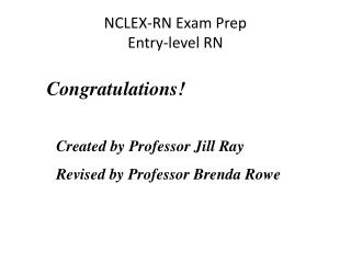 NCLEX-RN Exam Prep Entry-level RN