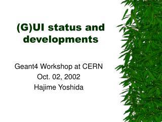 (G)UI status and developments
