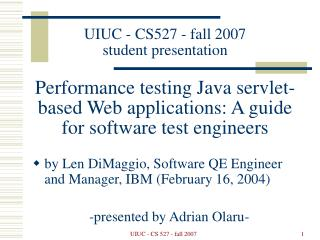 by Len DiMaggio, Software QE Engineer and Manager, IBM (February 16, 2004)