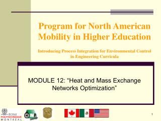 "MODULE 12: ""Heat and Mass Exchange Networks Optimization"""