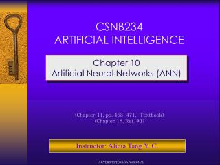 CSNB234 ARTIFICIAL INTELLIGENCE