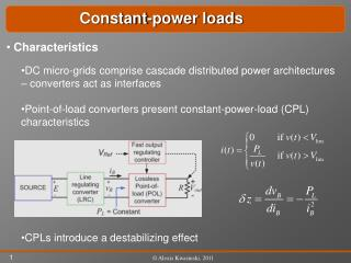 DC micro-grids comprise cascade distributed power architectures – converters act as interfaces