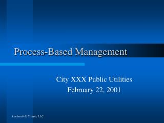 Process-Based Management