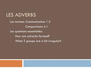 Les adverbs
