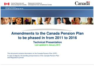 This document contains information on the Canada Pension Plan (CPP).