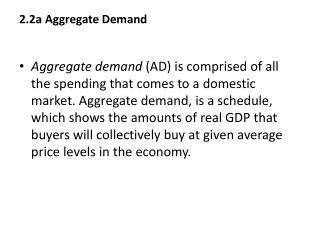 2.2a Aggregate Demand