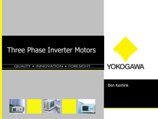 Three Phase Inverter Motors