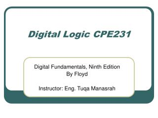 Digital Logic CPE231