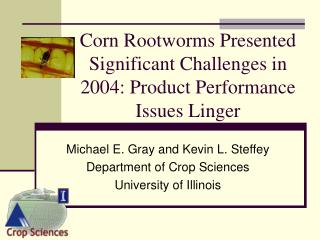 Corn Rootworms Presented Significant Challenges in 2004: Product Performance Issues Linger