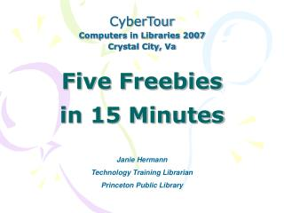 Five Freebies  in 15 Minutes