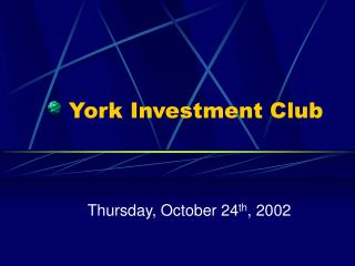 York Investment Club