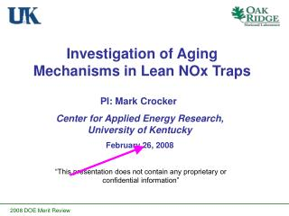 Investigation of Aging Mechanisms in Lean NOx Traps