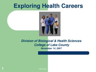 Exploring Health Careers