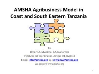 AMSHA Agribusiness Model in Coast and South Eastern Tanzania