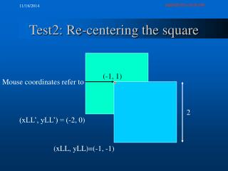 Test2: Re-centering the square