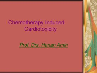 Chemotherapy Induced Cardiotoxicity