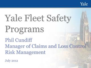 Yale Fleet Safety Programs