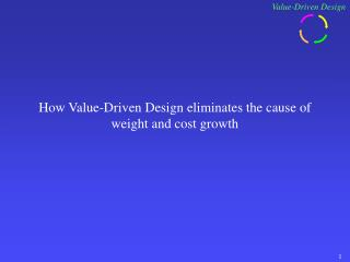 How Value-Driven Design eliminates the cause of weight and cost growth