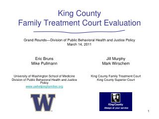 Eric Bruns Mike Pullmann University of Washington School of Medicine