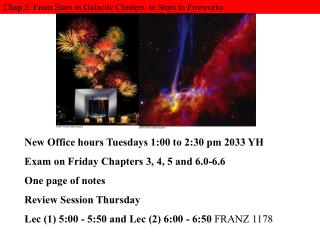 Chap 5: From Stars in Galactic Clusters  to Stars in Fireworks