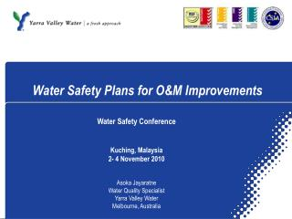 Water Safety Plans for O&M Improvements