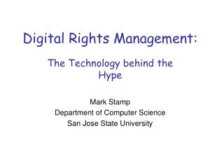 Digital Rights Management: