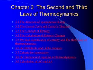 Chapter 3  The Second and Third Laws of Thermodynamics