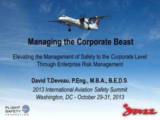 Managing the Corporate Beast