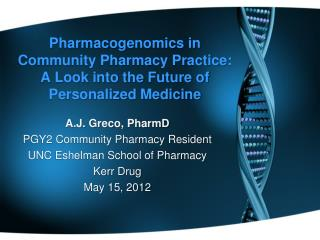Pharmacogenomics in Community Pharmacy Practice:  A Look into the Future of Personalized Medicine