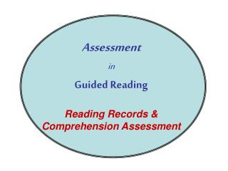 Assessment  in Guided Reading Reading Records & Comprehension Assessment