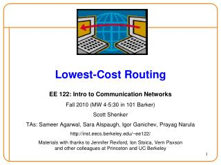 Lowest-Cost Routing