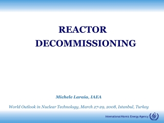 REACTOR DECOMMISSIONING