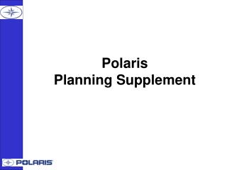 Polaris Planning Supplement