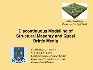Discontinuous Modelling of Structural Masonry and Quasi Brittle Media