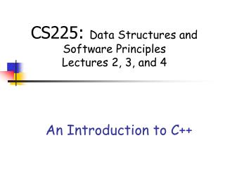 An Introduction to C++