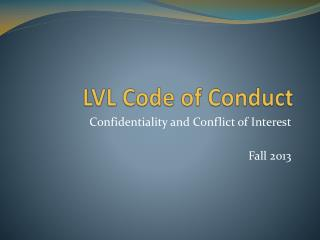 LVL Code of Conduct