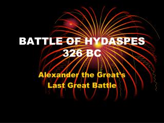 BATTLE OF HYDASPES 326 BC