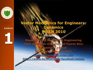 Vector Mechanics for Engineers: Dynamics  MECN 3010