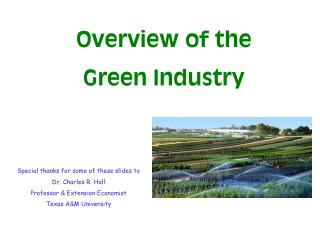 Overview of the Green Industry