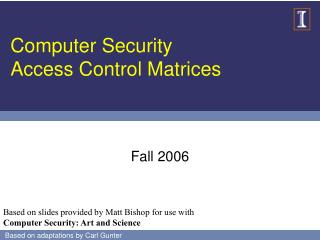 Computer Security Access Control Matrices