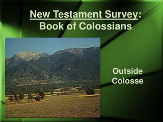 New Testament Survey : Book of Colossians