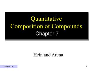 Quantitative  Composition of Compounds Chapter 7