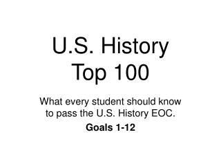 U.S. History  Top 100