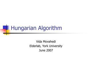 Hungarian Algorithm