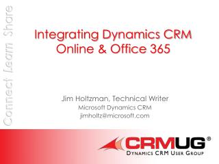 Integrating Dynamics CRM Online & Office  365
